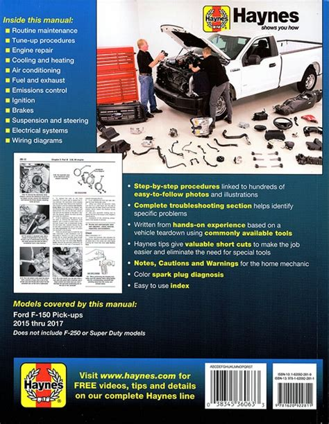 online auto repair manual 2012 ford f150 windshield wipe control ford f 150 pick up truck repair manual 2015 2017 haynes 36063
