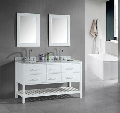 london  double sink vanity set  white  open