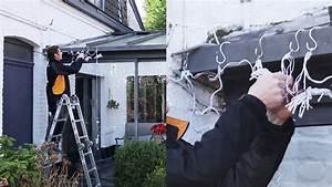 Guirlande Lumineuse Exterieur Professionnel : installer des guirlandes lumineuses sur la maison youtube ~ Teatrodelosmanantiales.com Idées de Décoration