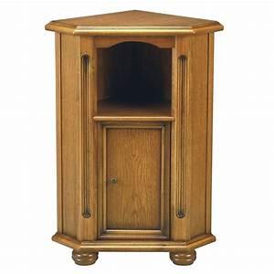 Meuble Angle Bois : meuble d 39 angle donatien univers petits meubles ~ Edinachiropracticcenter.com Idées de Décoration