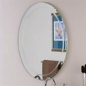 decor wonderland ssm1033 frameless aldo wall mirror lowe With kitchen cabinets lowes with wall decor mirrors art