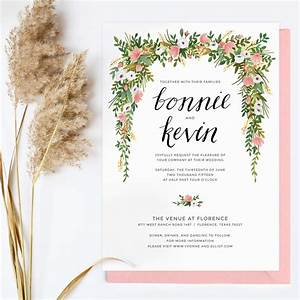 floral wedding invitation 1jpg 2895x2895 florals and With wedding invitation no flowers
