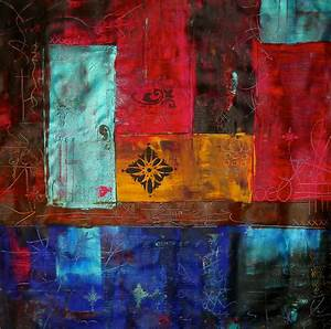 Patchwork, Ii, Colourful, Contemporary, Abstract, Art, Acrylic
