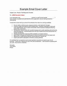 cover letter sample email the best letter sample With write cover letter in email or attach