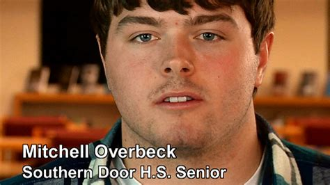 southern door high school mitchell overbeck southern door high school senior news
