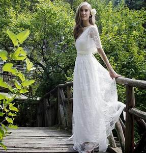 bohemian romantic style wedding dresses 2016 lace bride With bohemian beach style wedding dresses