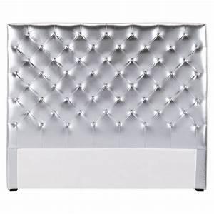 Tete Lit Capitonnée : t te de lit capitonn e argent l 140 cm chesterfield ~ Premium-room.com Idées de Décoration