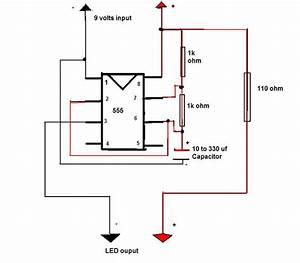 led flashing circuit With two led strobe flasher hookup to 10 leds