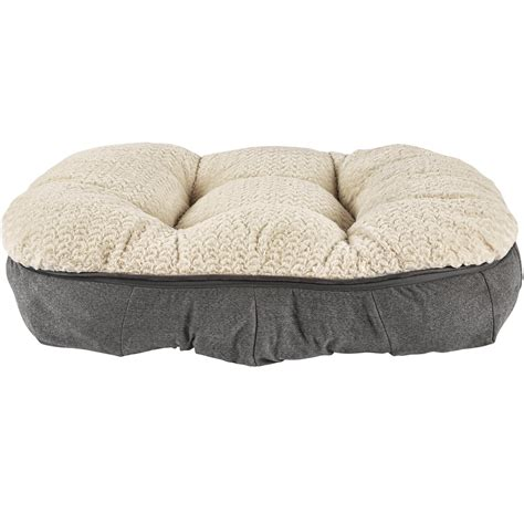 harmony grey plush lounger memory foam dog bed petco