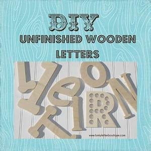 7quot inch unfinished wooden wall letters diy on storenvy With 7 inch wooden letters