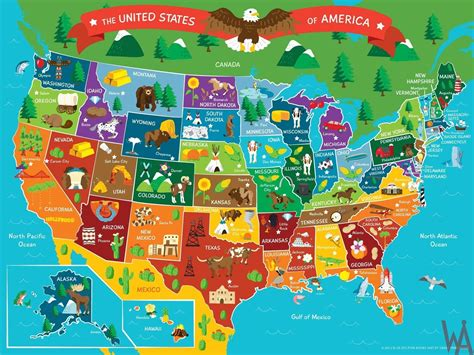 tourist map   usa whatsanswer