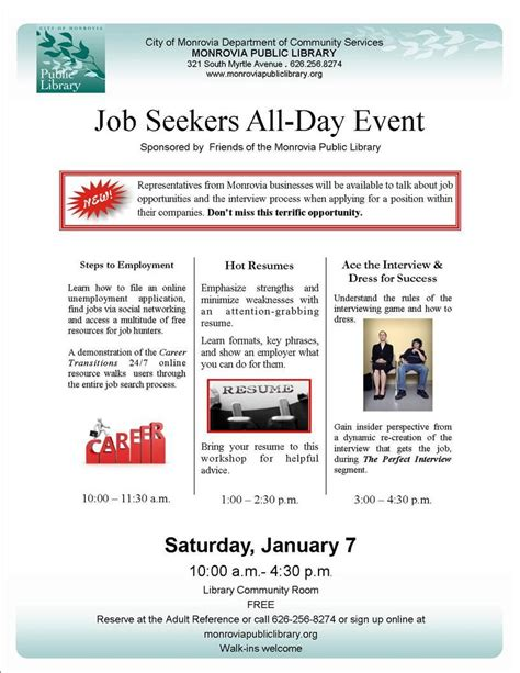 View Resumes Of Seekers Free by My Monrovia Business Seekers Event On Jan 7