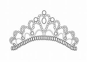Pretty tiara coloring page for girls, printable free | Art ...