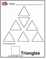 Triangle Coloring Preschool Worksheets Worksheet Tracing Pages Right Shape Worksheeto Via Results sketch template