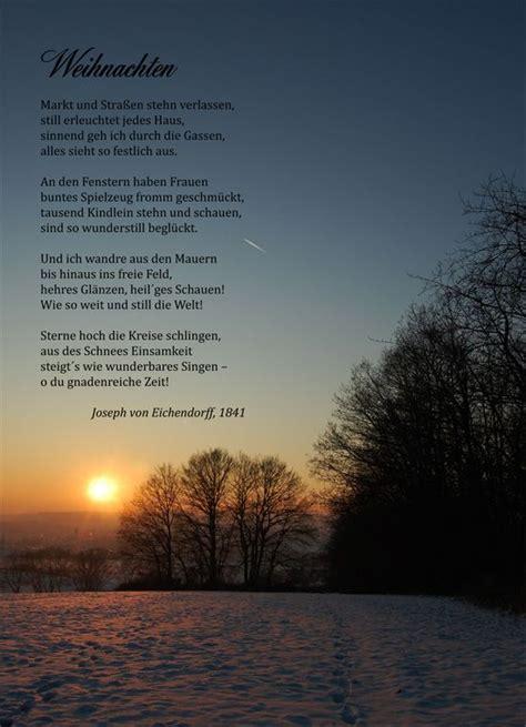 gedichte zu weihnachten joseph eichendorff winter gedichte gedicht weihnachten und lyrik