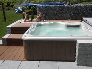 Mini Whirlpool Balkon : pin von helle rasmussen artist auf spa pool and deck ~ Watch28wear.com Haus und Dekorationen