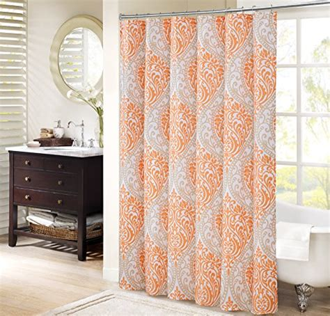 grey and orange curtains compare price to grey and orange shower curtain