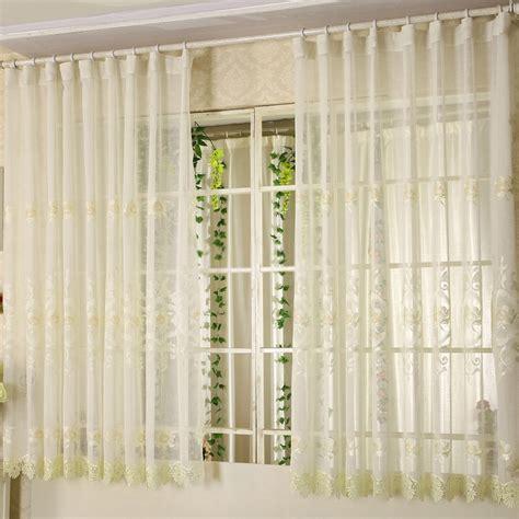 short sheer curtains  bay windows  elegant