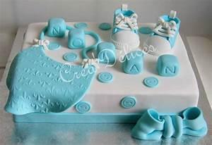 gateau avec decoration en pate a sucre pour bebe garcon With chambre bébé design avec fleurs en pate à sucre