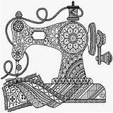 Sewing Coloring Machine Drawing Antique Printable Mandala Drawings Sew Zentangle Colouring Getdrawings Creations Monroe Getcolorings Adult Machi Cut Outdoors Doodle sketch template
