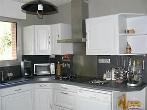 deco cuisine peinture verte With de couleur peinture 7 peinture meuble cuisine avant chouin peinture