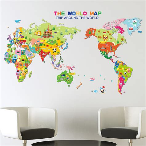 World map wall decal nz elitflat world map decal your decal shop nz designer wall art gumiabroncs Gallery