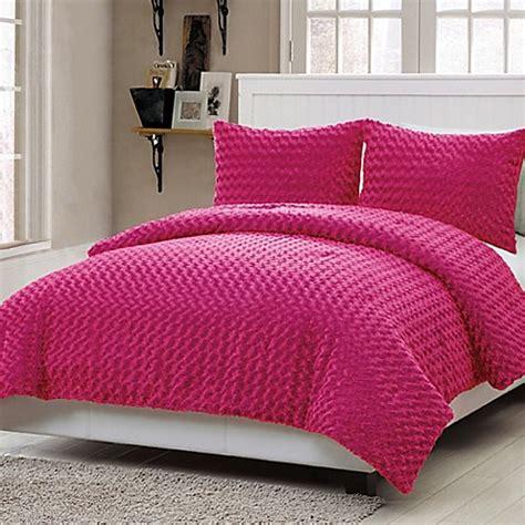 14274 fur bed set buy vcny fur 2 comforter set in pink from