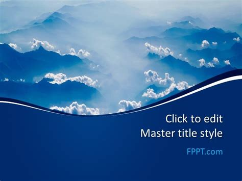 blue clouds powerpoint template  powerpoint