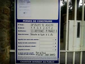 Panneau De Permis De Construire : consulter un permis de construire modalit s ooreka ~ Dailycaller-alerts.com Idées de Décoration