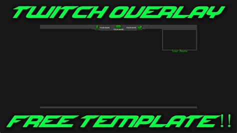 twitch overlay template clean youtube
