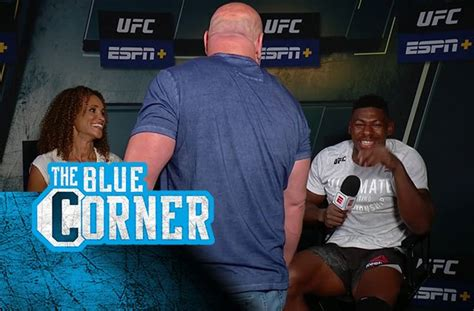 UFC video: Spinning back kick star giddy when Dana White ...