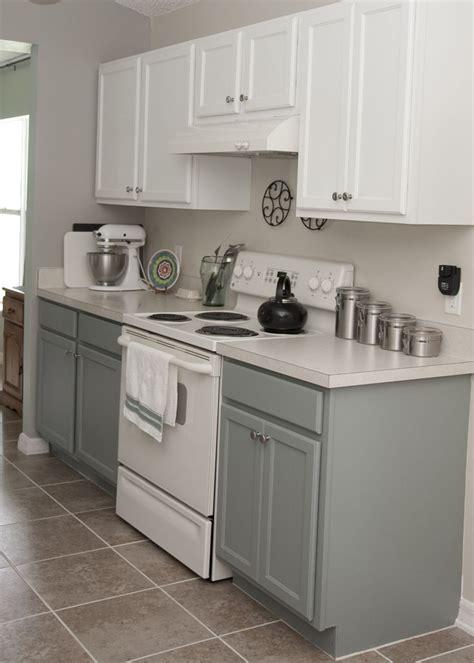 two tone kitchen cabinets rustoleum cabinet transformation