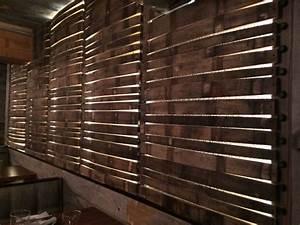 Backlit Stave Wall  Alden  U0026 Harlow Restaurant  Harvard