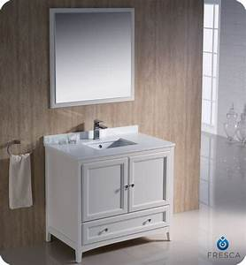 36quot Fresca Oxford FVN2036AW Traditional Bathroom Vanity