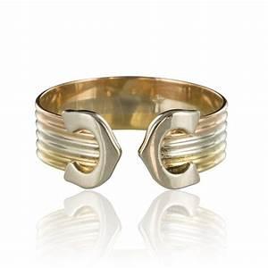 Bague 3 Ors Cartier : bague 3 ors double c bague cartier occasion bijouxbaume ~ Carolinahurricanesstore.com Idées de Décoration
