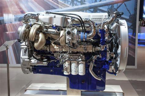 volvo diesel engine  euro  editorial stock image