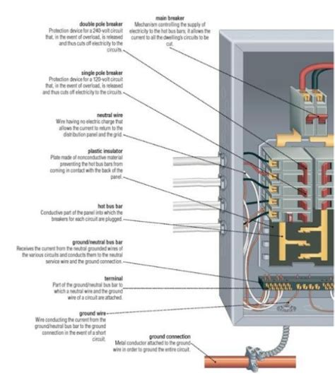 Electrical Panel Box Wiring Diagram by What S In An Electrical Panel Electrical Wiring
