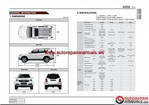 Ssangyong New Rexton Y290 2012 06 Service Manuals And