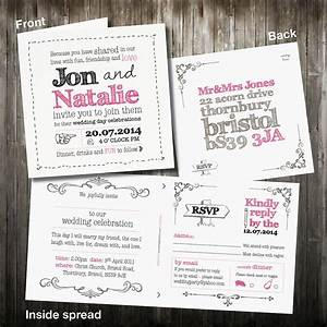 personalised sketch wedding invitation with rsvp by violet With wedding invites with rsvp attached uk
