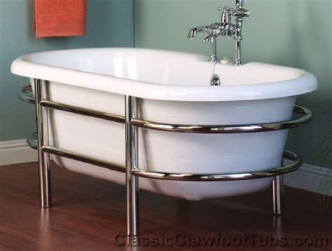 acrylic double ended tub  stainless steel frame