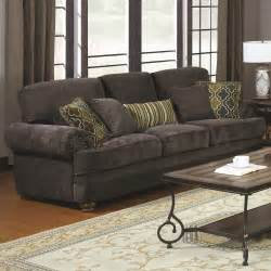 grey sofa 674 10 colton smokey grey chenille sofa with rolled arms and throw pillows sofas 2