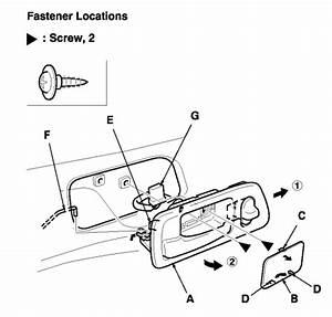 Service Manual  1998 Honda Accord Driver Door Latch Repair