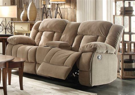 loveseat recliner with console recliner sofa with console new clic electra