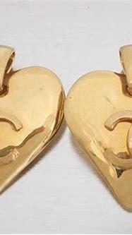 Chanel - CC Logo Heart Motif Øreringe - Catawiki