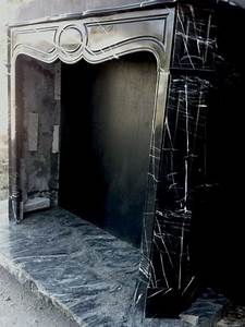 Parisian, Black, And, White, Marble, Fireplace, Original, At, 1stdibs