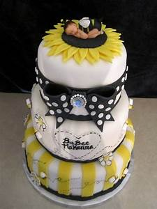 Baby Bumble Bee Shower Cake - CakeCentral com