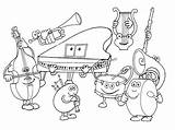 Instruments Coloring Musical Pages Instrument Band Printable sketch template