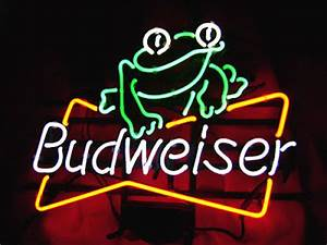 Wiki Neon Sign Blog Budweiser Bud Light FROG Beer Bar