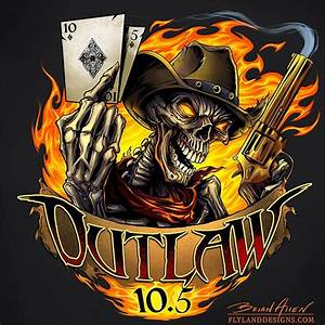 The finished skull outlaw logo for Outlaw 10.5 racing ...