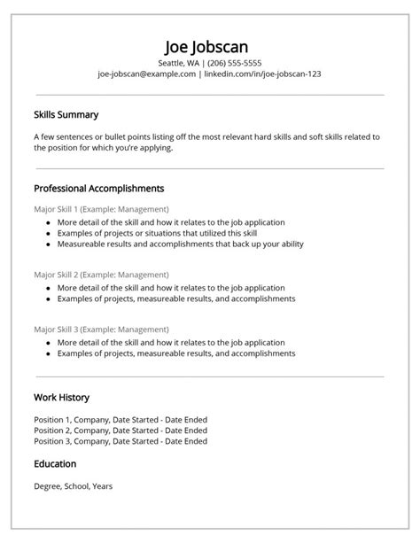 Free Microsoft Resume Templates for Word - Wikitopx